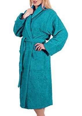 Махровый халат Тёмная Бирюза (Турция)