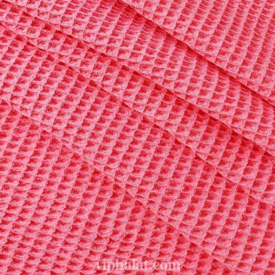 Вафельная ткань Светлый коралл