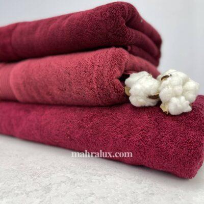 Банные полотенца из микрокоттона Оттенки красного