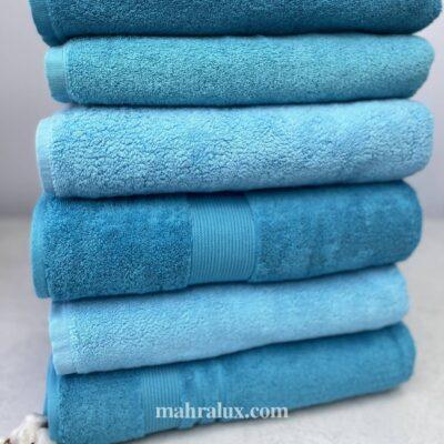 Банные махровые полотенца Голубая махра