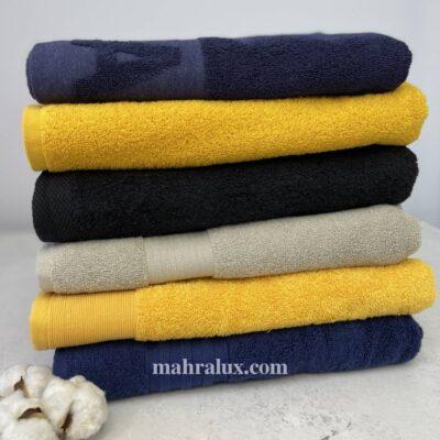 Банные махровые полотенца Жёлтое и синее