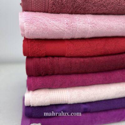 Банные махровые полотенца Оттенки фуксии
