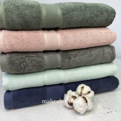 Банные полотенца микрокоттон Осенняя гроза