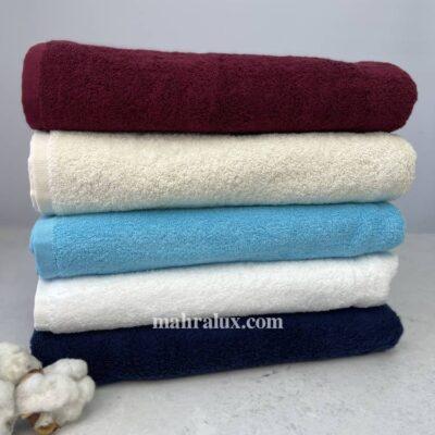 Банные махровые полотенца Краски стиля