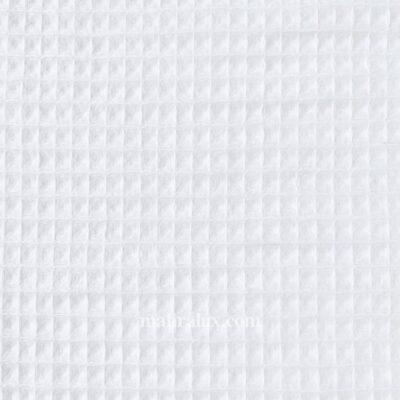 Вафельная ткань белая Турция, 155 см